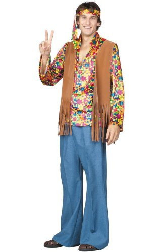 [RG Costumes Adult Far Out Frank Costume, Plus Size] (Far Out Frank Costumes)