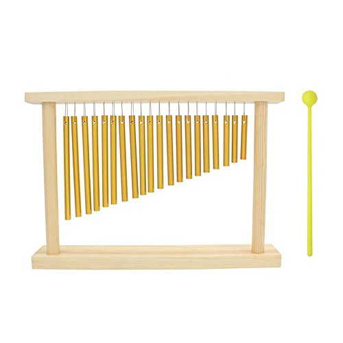 Dilwe 20 Bars Percussion Chimes, Single-row Musical Percussion Instrument With Wood Stand Stick by Dilwe