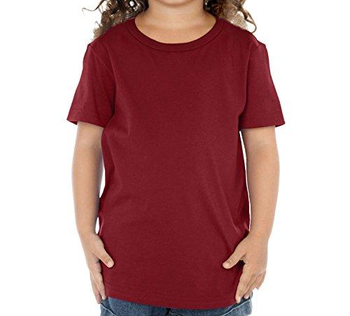 Kavio Toddlers Crew Neck Short Sleeve Tee (Same TJP0494), Wine, (Jersey Boy Wine)