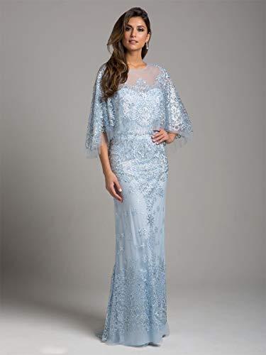 Earth 33623 Ice Blue Lara Dress Long Dress Cape 1wgdEgq
