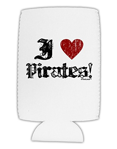 [TooLoud I Heart Pirates Collapsible Neoprene Tall Can Insulator] (Somali Pirate Costume)