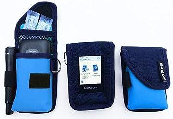 Estuche de protección para FreeStyle libre modelo Smart Access Mabox – Navy/azul claro: Amazon.es: Salud y cuidado personal