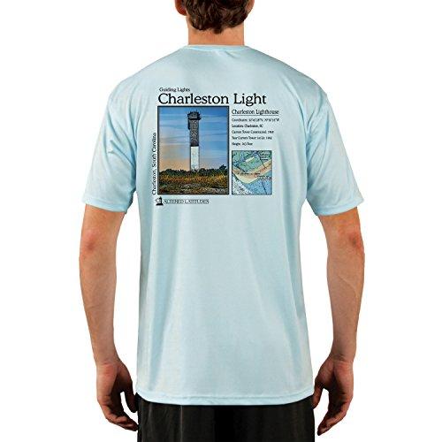 Altered Latitudes Guiding Lights Charleston Light Men's UPF 50+ Short Sleeve T-Shirt XX-Large Arctic Blue - Light Arctic Blue Apparel