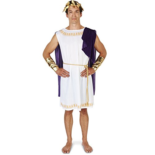 [White Toga (Short) Man Adult Costume] (Toga Costumes Kids)