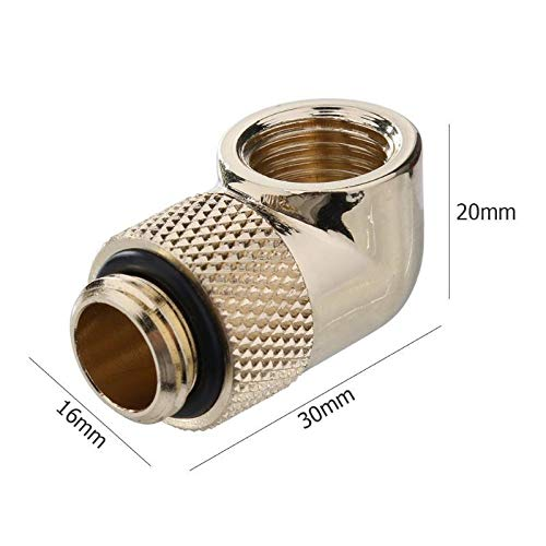 Rotatable Water Cooling Fittings 90 Degree 360 Degree Elbow Rotary Joint Connector with G1 4 Thread fo Computer case