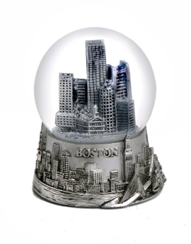 Boston Silver Snow Globe 65mm