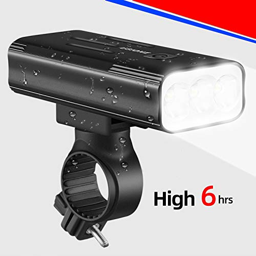 Bicycle Headlight USB Rechargeable,2020 Bike Light Front 800 Lumens High Bright 6Hrs,Mountain/Road Bicycle Lights with Charging Function, Easy to Install for Men Women Kids Cycling Safety Commuter