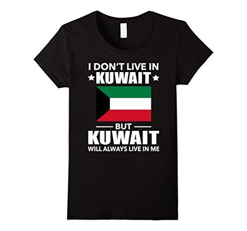 Womens Kuwait Will Always Live In Me T-shirt Kuwaiti Lover Medium Black