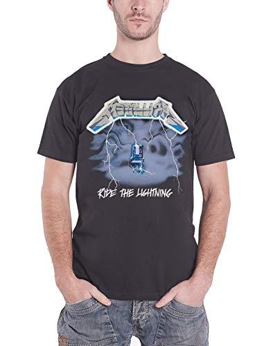 Metallica T Shirt Ride The Lightning Album Cover Official Mens Black Size XL