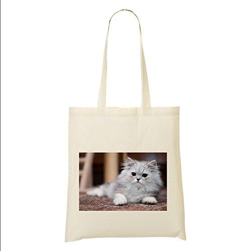 Warnschild Perser Katze Tasche aus 100% Baumwolle (FC) # 11