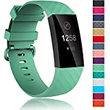 Velavior Replacement Bands Compatible Fitbit Charge 3 and Charge 3 SE, Adjustable Sport Wristbands for Women Men Small Large