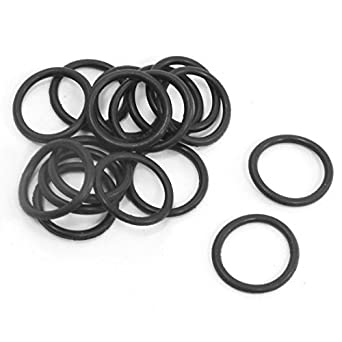 10pcs 52mm OD 3mm Thickness Rubber O Ring Oil Seal Gaskets Black