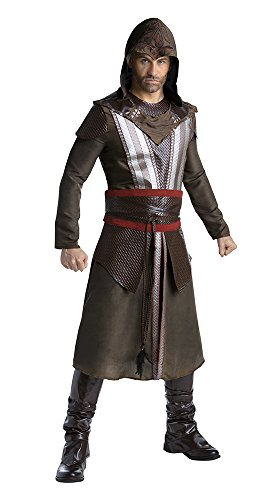 Palamon Men's Assassin's Creed Movie Aguilar Deluxe Costume, Brown, Large (Assassin Halloween Costumes)