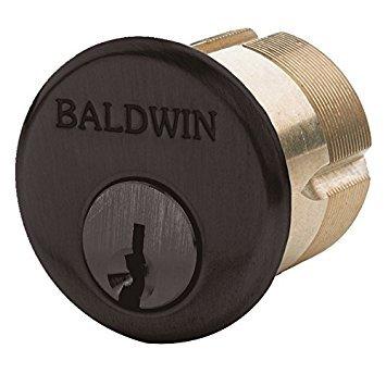 Baldwin 8325 1-1/2'' Mortise Cylinder C Keyway, Venetian Bronze by Baldwin