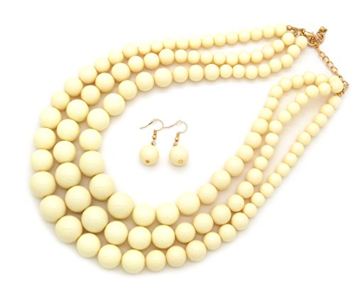 Fashion 21 Women's Multi-Strand Acrylic Ball Bead Statement 18