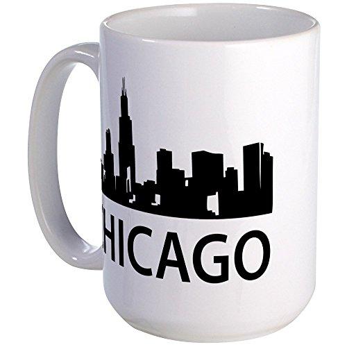 CafePress - Chicago Skyline Large Mug - Coffee Mug, Large 15 oz. White Coffee Cup -