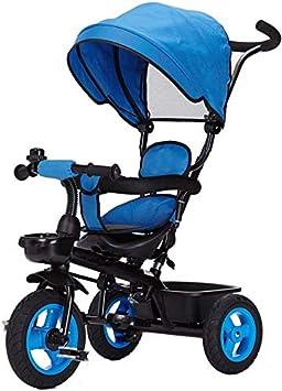 FEE-ZC Universal Kids Trike Sun Canopy Plegable Niños Triciclo de 3 Ruedas 4 en 1 Empuñadura Bicicleta