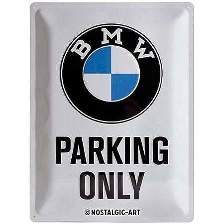 Nostalgic-Art BMW Parking Only White Placa Decorativa, Metal ...