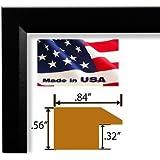 22x28 Single Custom Cut Designer Black Real Poplar Wood .84 inch Moulding Picture Frames Poster Frames