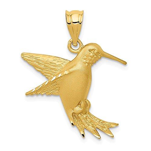 14K Yellow Gold Hummingbird Charm ()