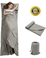 OTDEST Travel and Camping Sheet Sleeping Bag Liner - Lightweight Compact and Portable Adult Sleeping Bag - Ideal for Traveling,Hostels and Camping