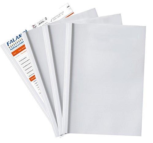 50 Thermobindemappen, weiß, Starter-Sortiment 10-25mm weiß FALAMBI