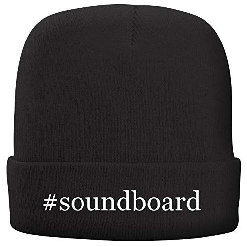 BH Cool Designs #Soundboard - Adult Hashtag Comfortable Fleece Lined Beanie, Black