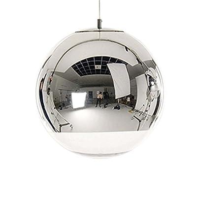 "Mirror Ball Pendant Light Chrome Glass Lampshade Contemporary Designer Ceiling Lamp 10"""