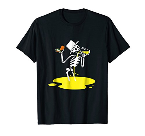 Skeleton Jalapeno Poppers Beer Halloween Costume T-Shirt
