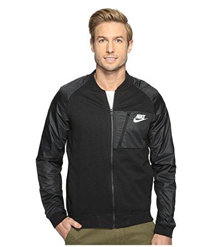Nike Mens Advance 15 Fleece Full-Zip Jacket Black/Heather/White (XXX-Large) 846878-010