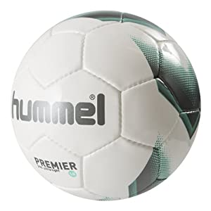 Hummel Kinder Fussball 1.0 PREMIER ULTRA LIGHT, White/Turquoise, 4, 91-732-9272