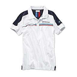 BMW Motorsport polo shirt - white/team blue - men\'s xx-large