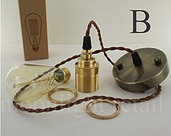 Embellecedor para aplique de lámpara Art Deco Vintage Edison E27 de tornillo bombilla juego completo incluye bombilla - dorado