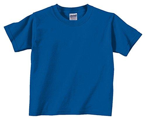 - Gildan Todler Boy's Heavy Cotton 5.3 oz. T-Shirt, Royal, 6T