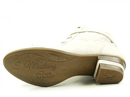 Mustang 1187-505 Scarpe Da Donna Ankle Boots Stivaletti Bianchi