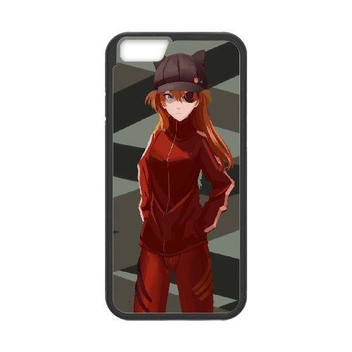 Asuka Langley Soryu Black coque iPhone 6 Plus 5.5 Inch Housse téléphone Noir de couverture de cas coque EBDOBCKCO14938