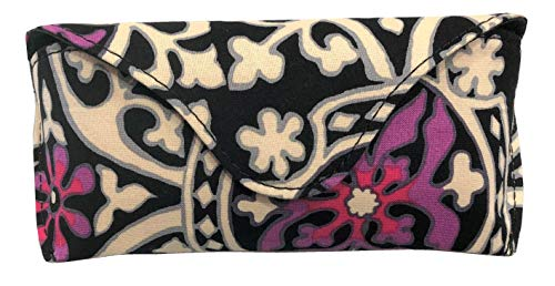 Vera Bradley Eyeglass Case Hardshell with Magnetic Close (Scroll Medallion)