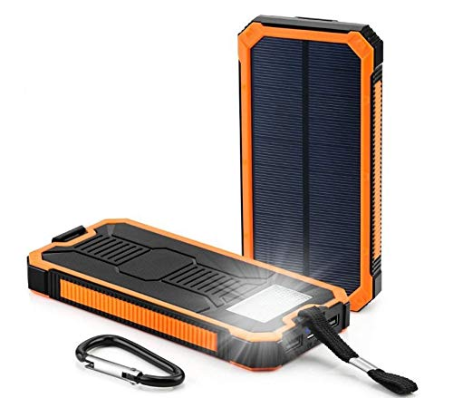 Amazon.com: Cargador solar portátil impermeable de 500000 ...