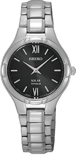 Seiko solar para mujer-reloj analógico de cuarzo Titan SUP279P1