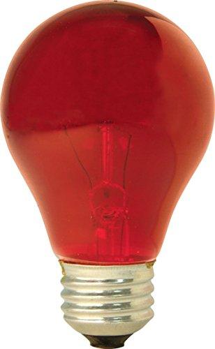 GE 49727 (2-Pack) 25-Watt Red Incandescent Party Light Bulb, A19 Shape, 1900 Lumens, E26 Medium Base