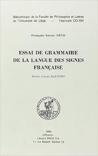 Livre gratuits Essai de Grammaire de la langue des signes française pdf, epub ebook