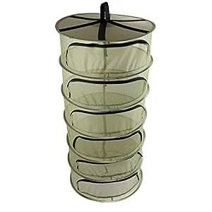 Ipomelo 2ft 6 Tier Flower Herbs Hanging Dry Net w/Zipper Opening Dry rack