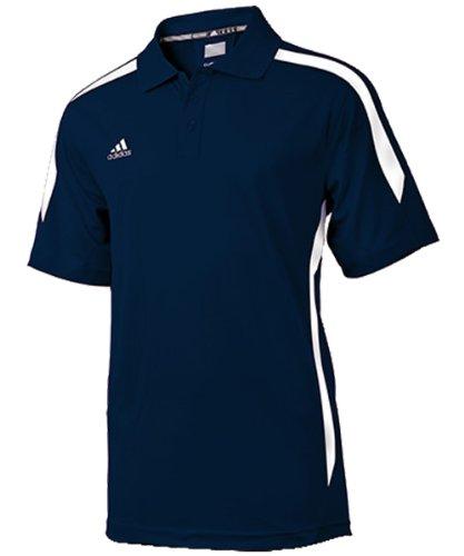 adidas Men's Sideline Polo - Collegiate Navy/White - Small (Polo Adidas Shirt Sideline)