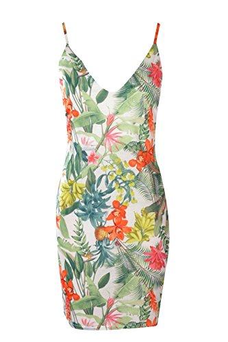 Alicia Dress (Boohoo Womens Petite Alicia Tropical Bodycon Dress In Multi Size 0)