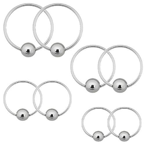 BodyJ4You Captive Bead Piercing Rings 20G (0.8mm) for Nose Eyebrow Tragus Lip Ear Nipple Hoop Ring - Ring Triangle Bead Captive