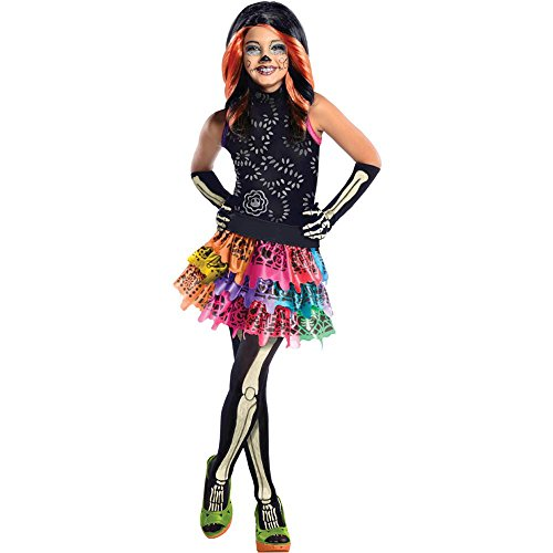 Calavera Costume Makeup (Skelita Calaveras Child Costume - Medium)