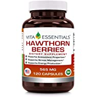 Vita Essentials Hawthorn Berries 565 Mg Capsules, 120 Count