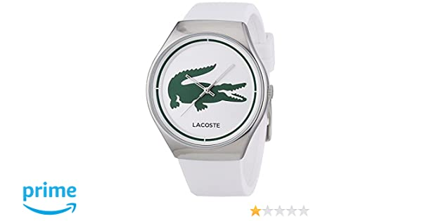 Amazon.com: Lacoste 2000847 Ladies Green and White Valencia Watch: Lacoste: Watches