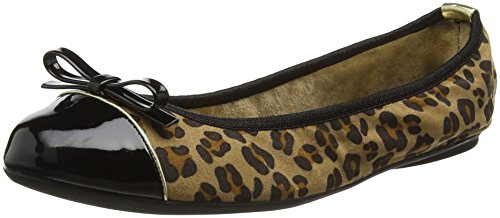 Femme Twists Ballerines 087 Butterfly Cara Tan Marron Leopard 6qtTzx