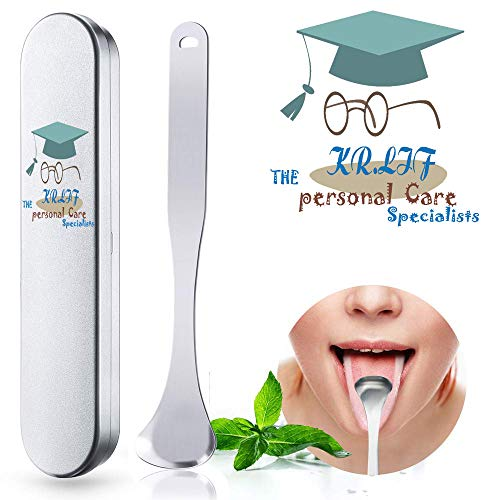 Stainless Steel Tongue Scraper Cleaner Metal Tongue Scraping Cleaner with Storage Box for Stainless Steel Metal - Get Rid of mouth odor remover source (style 2)